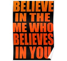 gurren lagann simon kamina believe in the me who believes in you anime manga shirt Poster