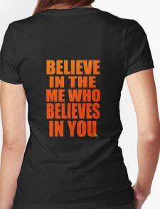 gurren lagann simon kamina believe in the me who believes in you anime manga shirt Womens Fitted T-Shirt