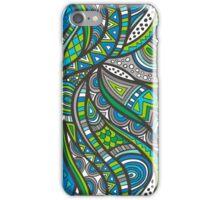 Wild Aztec in Blue Gray iPhone Case/Skin