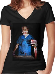 The Surgeon. Women's Fitted V-Neck T-Shirt