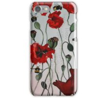 Wild poppies iPhone Case/Skin
