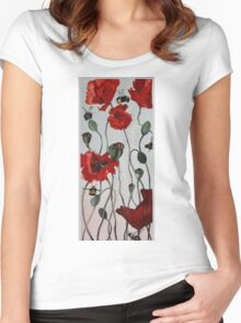 Wild poppies Women's Fitted Scoop T-Shirt
