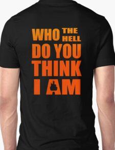 gurren lagan simon kamina who the hell do you think i am anime manga shirt T-Shirt