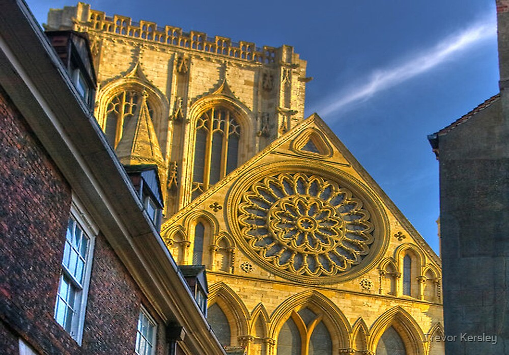 A Closer View of the Rose Window - York Minster by Trevor Kersley
