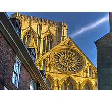 A Closer View of the Rose Window - York Minster Photographic Print