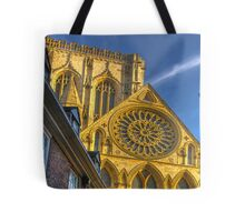 A Closer View of the Rose Window - York Minster Tote Bag
