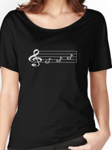 EMO - Words in Music - V-Note Creations (white text) Women's Relaxed Fit T-Shirt