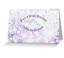Peace & Bright Blessings Greeting Card