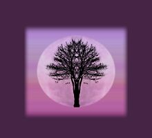 Pink Moon Rising Womens Fitted T-Shirt