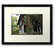 Kampung House Framed Print