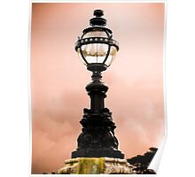 Lamp at sunset Poster