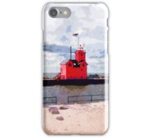 Lake Michigan Lighthouse iPhone Case/Skin