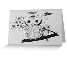 Blossoming owl Greeting Card