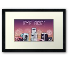 FYF Festival Music hip hop rap Framed Print