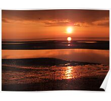 Sunset at Clevelyes Poster