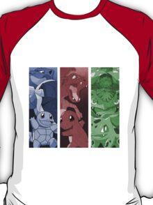 pokemon charmander squirtle bulbasaur blastoise charizard venusaur anime manga shirt T-Shirt