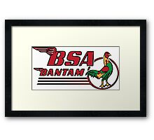 BSA Bantam Motorcycle Framed Print