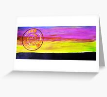 Sunset Earth Greeting Card
