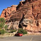 Red Rock and Red Car by Frank Romeo