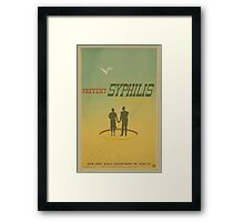 WPA United States Government Work Project Administration Poster 0681 Prevent Syphilis in Marriage New York State Department of Health Framed Print