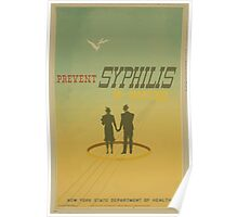 WPA United States Government Work Project Administration Poster 0681 Prevent Syphilis in Marriage New York State Department of Health Poster