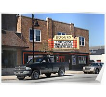 Rogers City, Michigan - Theater and Pickup Poster