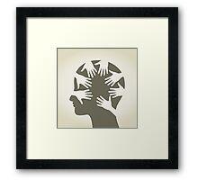 Head of hands Framed Print