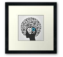 Head of hands2 Framed Print