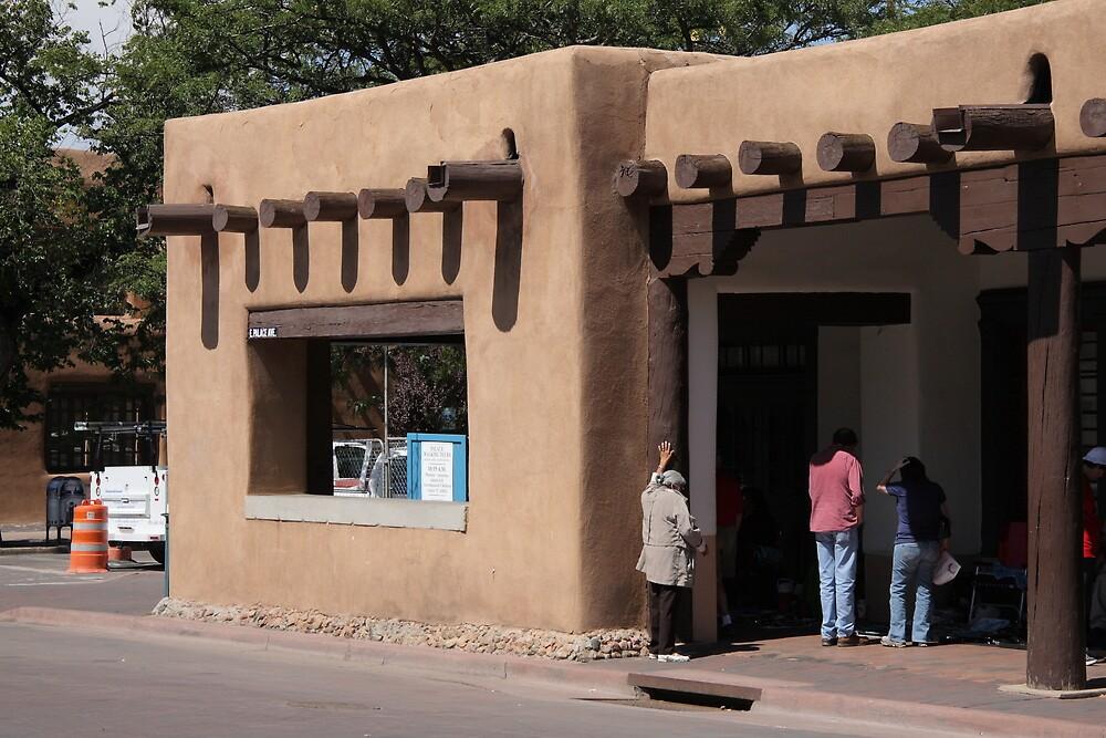 Santa Fe, New Mexico - Adobe Building by Frank Romeo