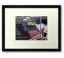 Jeff Gordon Wins At Martinsville Speedway Framed Print