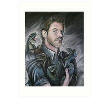 Chris Pratt- Jurassic World Art Print