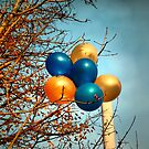 Balloons in a tree by Roxy J