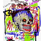 Grocery List  Neo Goth Skull by Kater