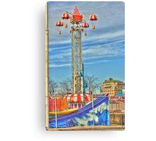 Coney Island amusement park Canvas Print