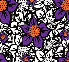 Scratched Flower -  Mixed Coloured Pattern by Yentuoc