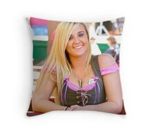 Beauty at the Faire Throw Pillow