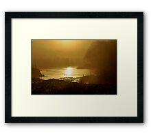 Golden sun rise Framed Print