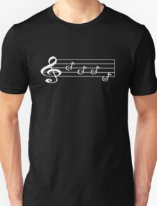 PUNK - Words in Music - V-Note Creations (white text) Unisex T-Shirt