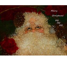 Merry Christmas Ho Ho Ho Photographic Print