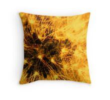 Dandy orange Throw Pillow