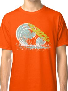surfboard on waves Classic T-Shirt