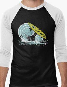 surfboard on waves Men's Baseball ¾ T-Shirt