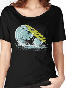 surfboard on waves Women's Relaxed Fit T-Shirt