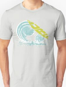 surfboard on waves Unisex T-Shirt