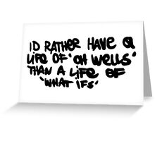 Life is Strange- Oh Well Graffiti Greeting Card