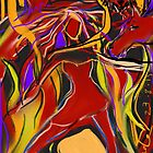 Solar Plexus Dance with Fire, Eagle, Wolf & Horse by Anthea  Slade