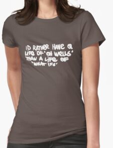Life is Strange - Oh well Graffiti white Womens Fitted T-Shirt