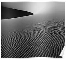 """sunrise in black and white over death valley dunes"" Poster"