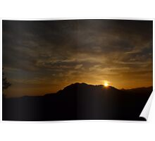Stunning Sunset Over the Smoky Mountains Poster