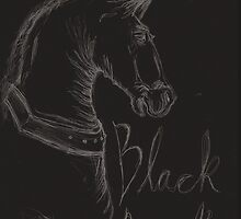 Black Beauty Book Cover print by FlorenceRose